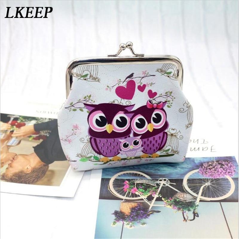 Blue Owls Coin purse; Small round  change pouch; kisslock money purse; women/'s gift; valentine\u2019s gift;