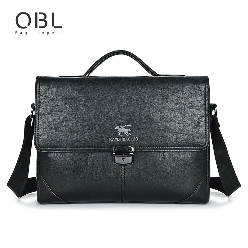 QiBoLu Handbag Man Bags Business Briefcase Tote Messenger Crossbody Shoulder Flap Bag Men Sacoche Homme Bolsa Masculina MBA15 vintage crossbody bag military canvas shoulder bags men messenger bag men casual handbag tote business briefcase for computer