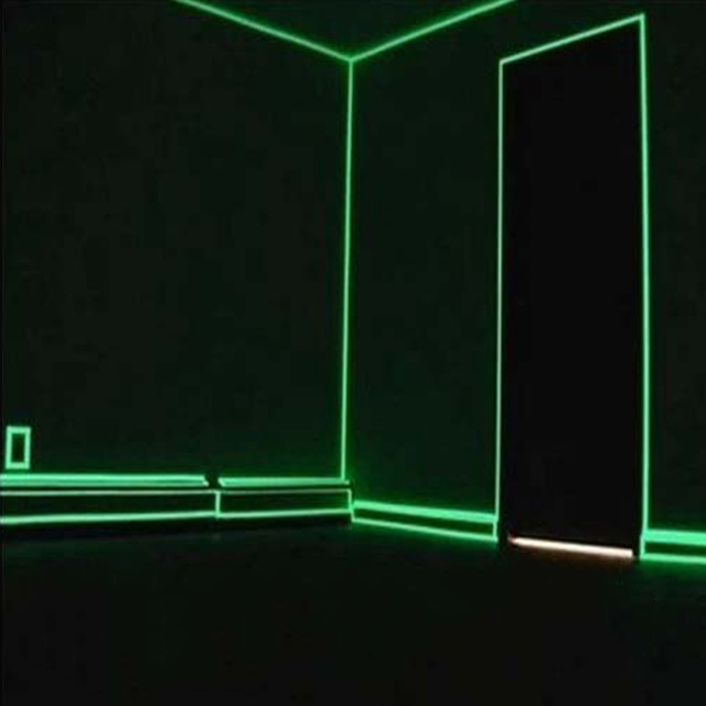 Superb 1pc Glow In The Dark Anti Collision Strip Sticker Decorative Films Luminous  Stairs Line Sticker