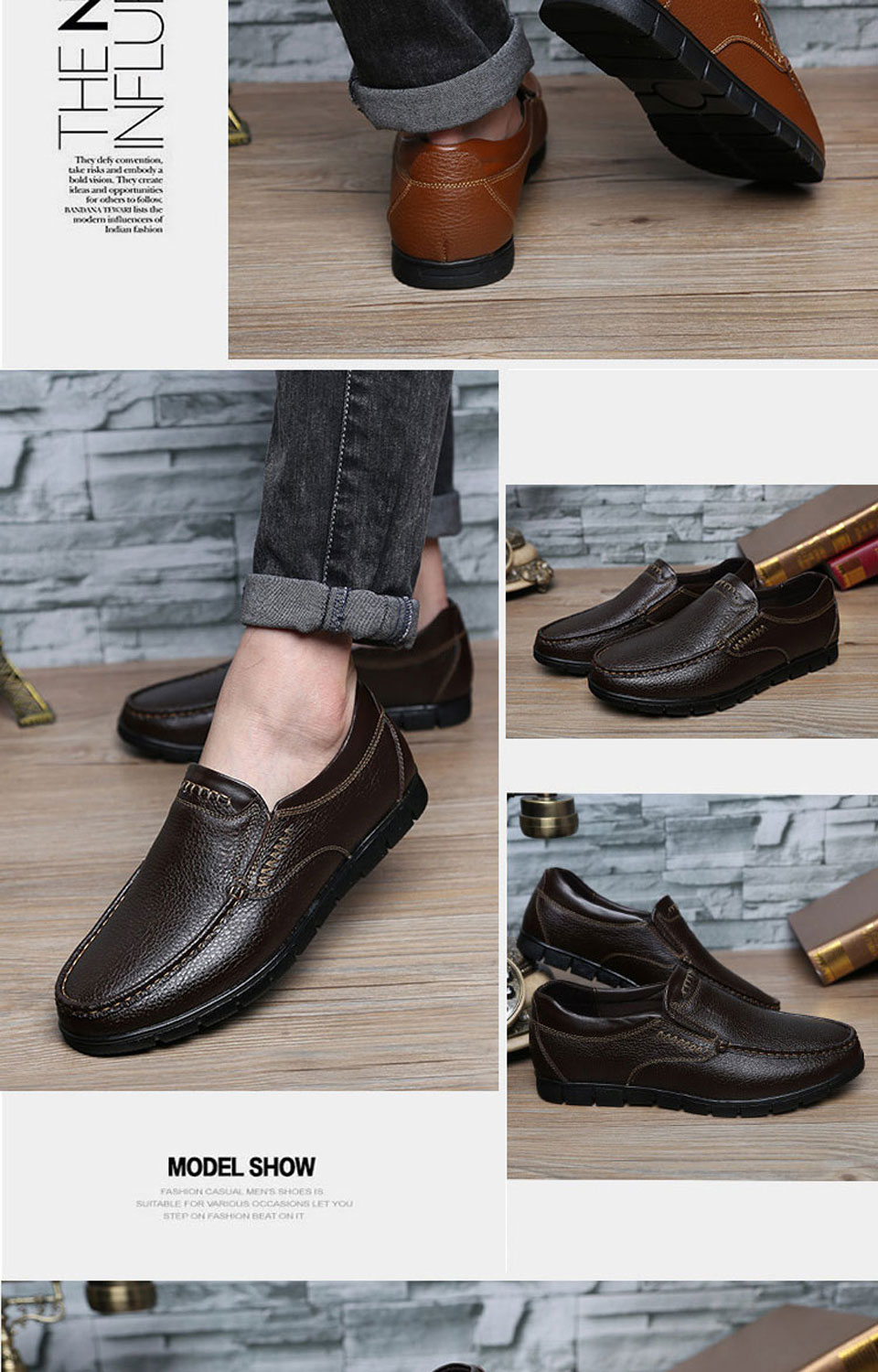 Formal Shoes Brand New Spring Autumn Italian Men Dress Formal Shoes Comfortable Slip-on Man Loafers Fashion Casual Mens Flats Oxford Shoes Relieving Rheumatism Shoes