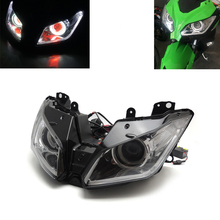 HID Projector Headlight Assembly Built-In LED For Kawasaki NINJA 250 300 NINJA250 EX250L NINJA300 ZX6R 2013 2014 2015 2016