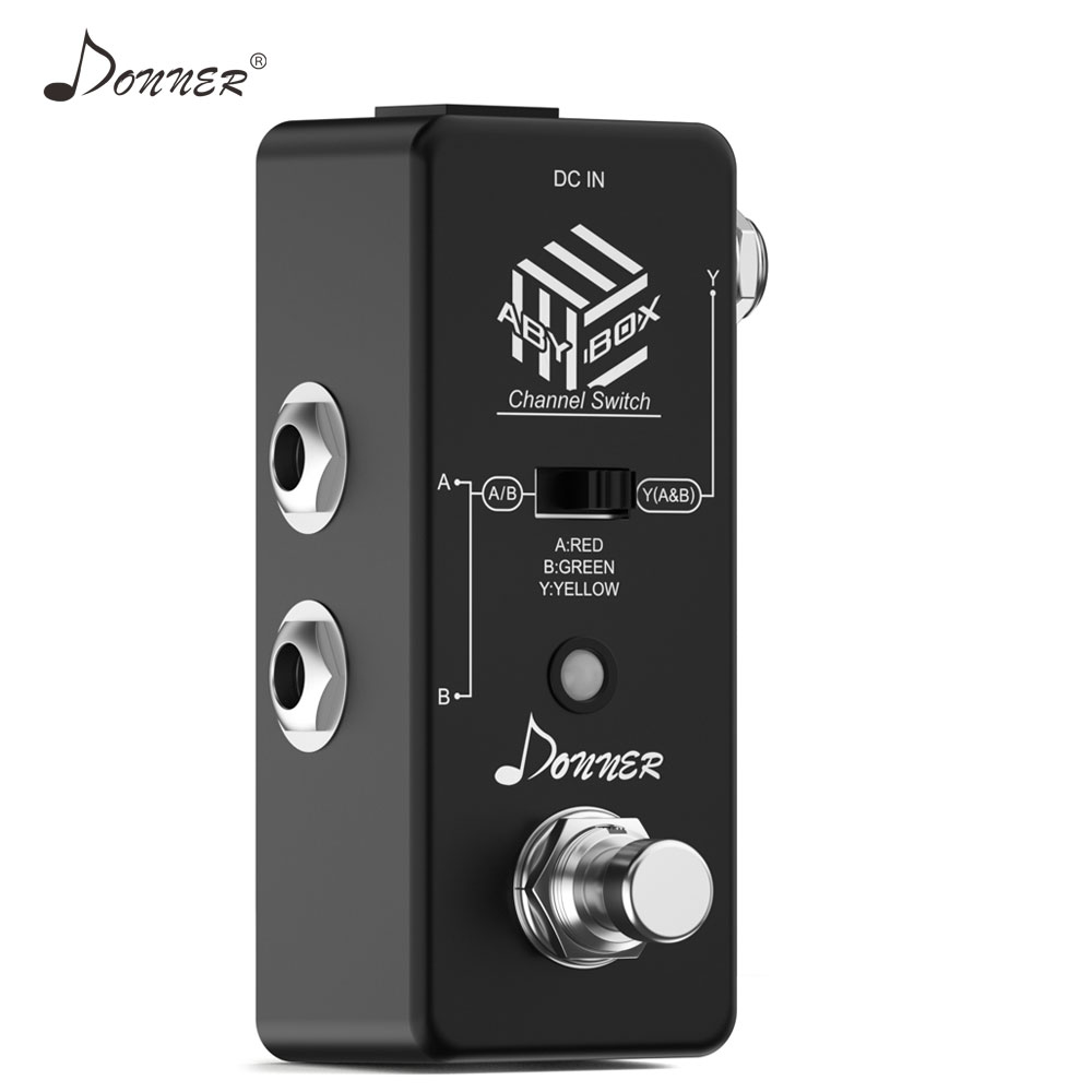 Donner ABY Switcher Box Guitar Pedal ABY Line Selector Audio Channel Swith Combine Effect Pedal True Bypass Guitar AccessoriesDonner ABY Switcher Box Guitar Pedal ABY Line Selector Audio Channel Swith Combine Effect Pedal True Bypass Guitar Accessories