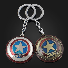 Hot Super Hero Captain America Pendant Key Chain Ring Metal Avengers Action Figures Toys