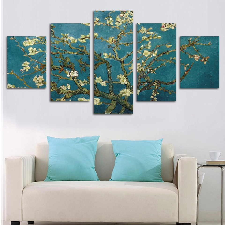 Wall Art Home Living Room Hd Printed Frame 5 Panel Elegant