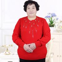 Add Fat Mother Qiu Dong Season Cashmere Sweater Knitted Shirt Sleeve PJ6006