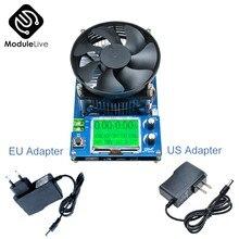 150W carga electrónica comprobador de capacidad de descarga USB amperímetro indicador voltímetro probador de la batería del multímetro de DC 6 ~ 12V UE adaptador
