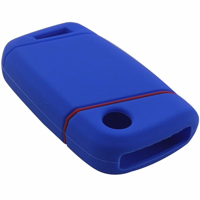 jingyuqin Silicone key fob case holder for VW Skoda Superb Magotan Passat B8 A7 Golf Smart Remote Protector Skin Cover
