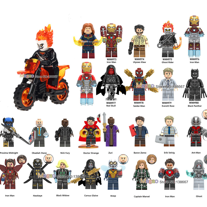 Model Building Kids Gifts Marvel Superhero Series Red Skull Hella Sif Miniature Educational Building Blocks Toys Legoings Figures