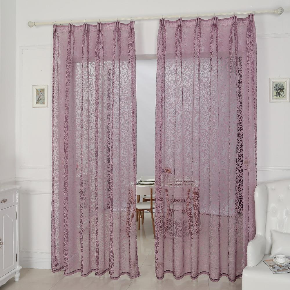 Kitchen Window Cheap Curtains Fabrics Tulle Organza Modern