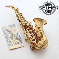 Франция Selmer R54 изогнутый саксофон сопрано латунь Sax накладки для мундштука колодки Reeds изгиб шеи натуральная подарок Бесплатная доставка