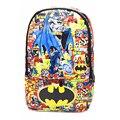 Batman Mochila Vingadores Capitão América Homem De Ferro Dos Desenhos Animados Sacos de Escola do Estudante de Couro PU Mochila Mochila de Viagem Frete Grátis