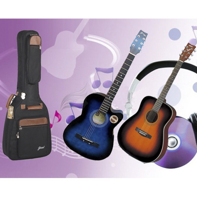 Professional portable durable 38 39 40 41 music acoustic guitar case folk balladry bass gitar gig bag soft padded backpack cover ...