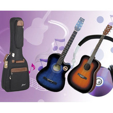 Professional portable durable 38 39 40 41 music acoustic guitar case folk balladry bass gitar gig bag soft padded backpack cover