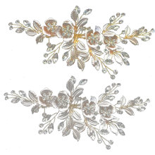 Flower Hair Clips Handmade Rhinestone Leaf Wedding Headpiece Fashion Accessories wedding flowers