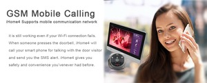 "Image 5 - WiFi Digital Peephole Door Viewer   Willful 7"" LCD Touch Screen Front Door Peephole Camera Wifi Doorbell with Intercom silver"