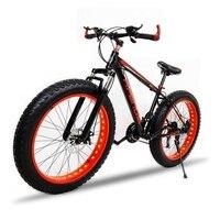 Mountain Bike Aluminum Alloy Frame 7 21 Speed 26 X 4 0 Bicycle Fat Bike Road