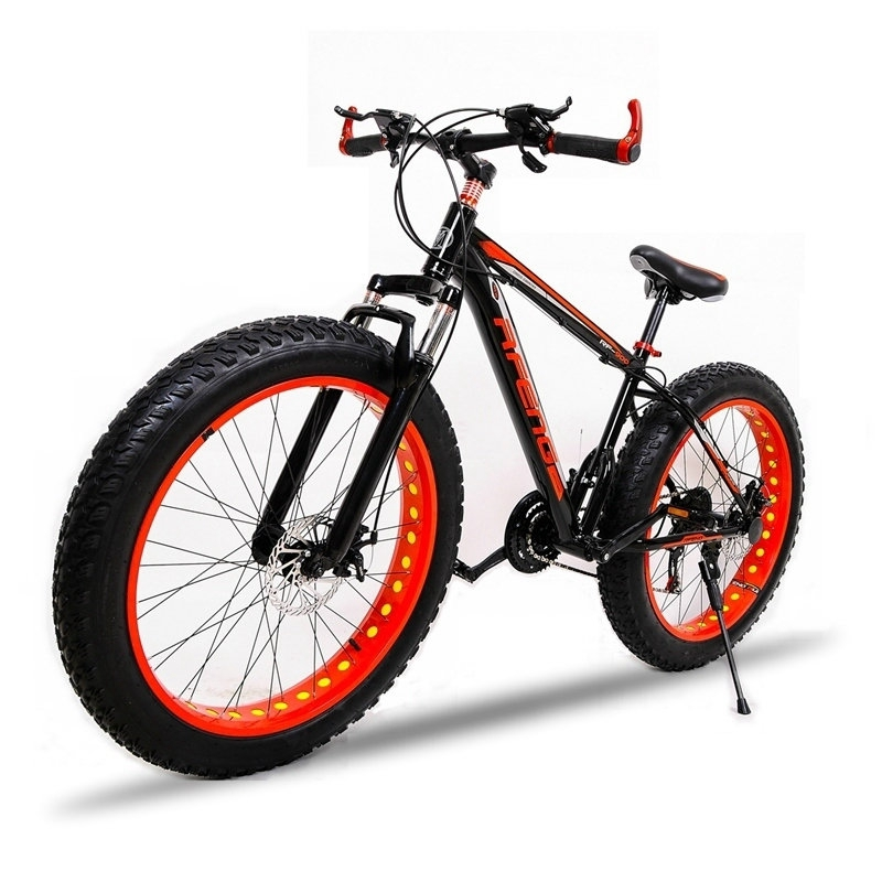 mountain Bike Aluminum alloy frame  7/21 speed 26X 4.0 bicycle fat bike road bike Front and Rear Mechanical Disc Brake Brand hunter aluminum alloy road bike frame
