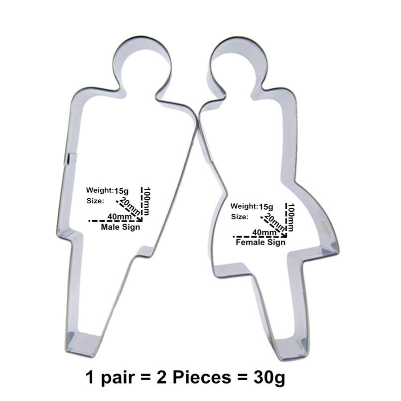 Men And Women Depend On Each Other Shape Cake Decorating Tools,Male And Emale Symbol Cookie Biscuit Baking Molds,Direct Selling