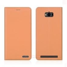 Простой подставка натуральная кожа чехол для Asus Zenfone Max ZC550KL 5.5 «Роскошный телефон магнитных флип чехол и 1 карты Слот