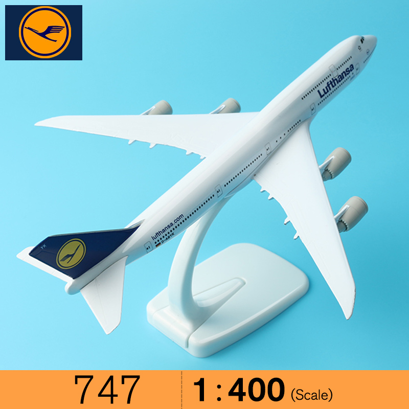 20cm Germany Air Lufthansa Boeing 747 B747 Airlines Airplane Model Airways w Stand Metal Model Plane