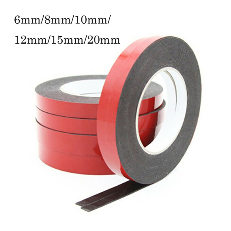 12 x ROLLS OF DOUBLE SIDED CLEAR STICKY TAPE DIY STRONG CRAFT ADHESIVE 12MM