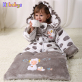 Flannel sleeping bag Winter Strollers Bed Swaddle thicken Blanket cotton Wrap cute Bedding sack baby sleeping bag kids slaapzak