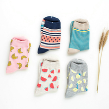 300pair/LOT women's sock cute fruit banana Casual spring summer Cozy cotton women short hosiery for gril
