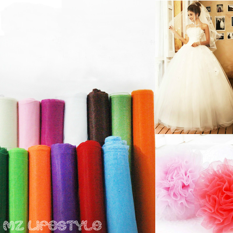 Buulqo 5meters/lot  Hard American mesh fabric wedding dress cloth skirt yarn fabric by lot DIY sewing craft fabric by meter