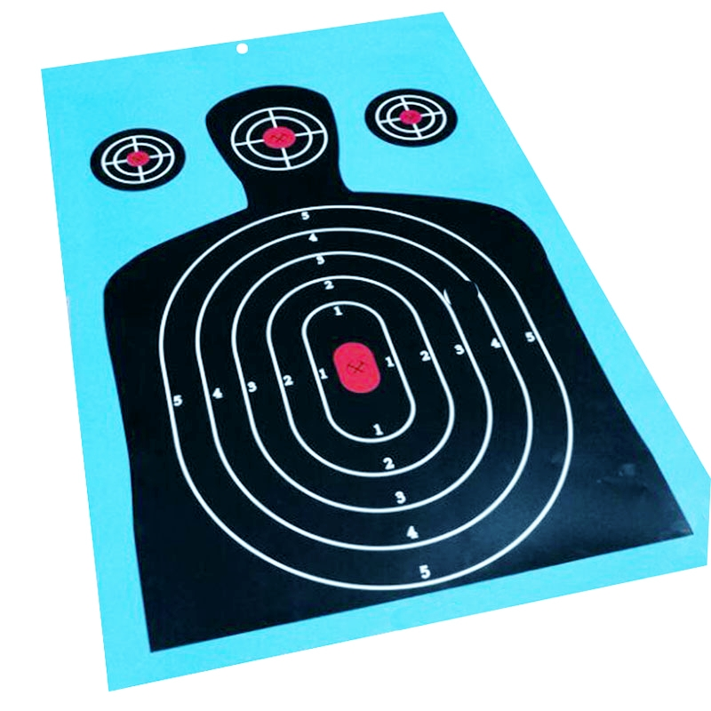1000 Pack - 12x17 Triple Silhouette Target - Instantly See Your Shots Burst Bright Florescent White Upon Impact!