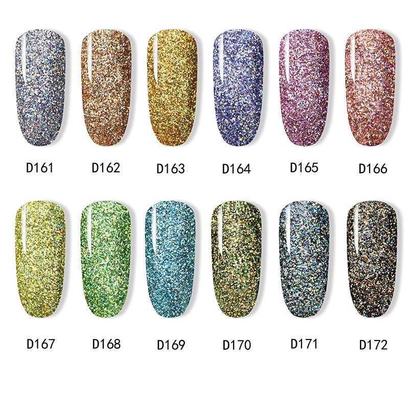 ROSALIND Dip en polvo arte esmalte de uñas gradiente brillante cromo pigmento inmersión conjunto de polvo brillo holográfico de uñas de lentejuelas
