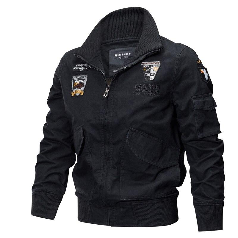 Coat Army Pilot-Jackets Air-Force Jaqueta Bomber Cotton 4XL Cargo Masculina Brand Military