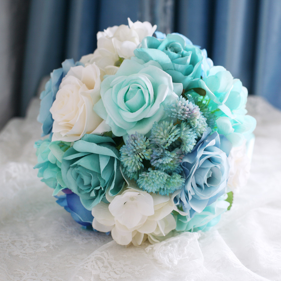 New Arrival Fabric Flowers Bridalbridesmaids Bouquet High