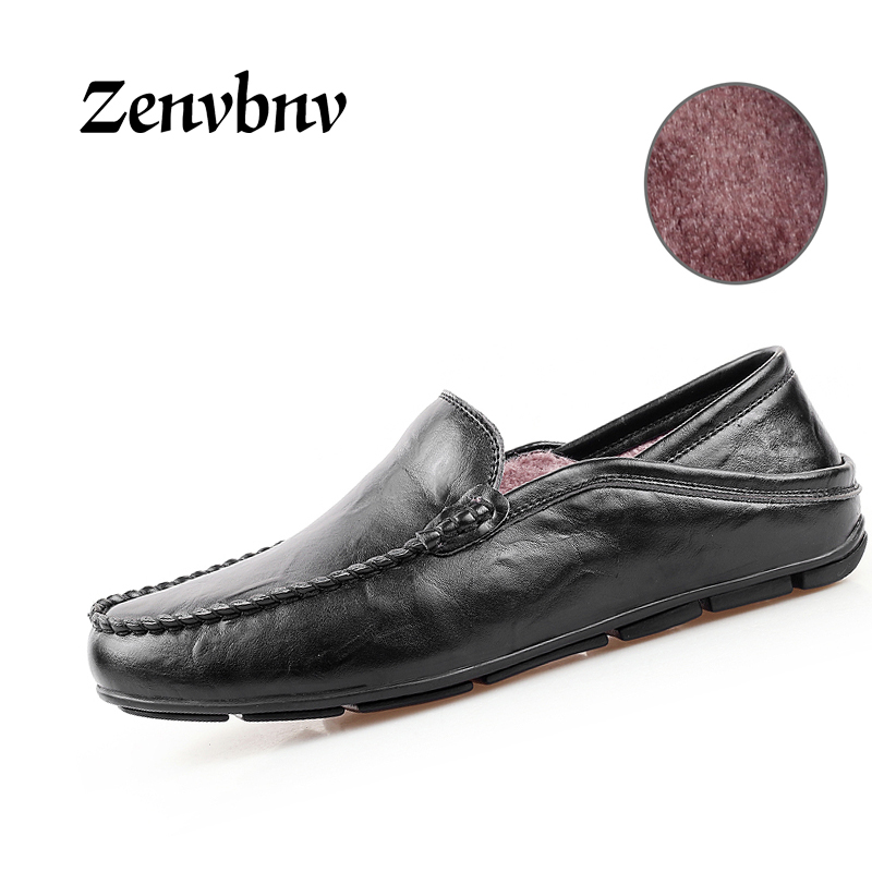 ZENVBNV 2017 New Arrival Autumn Winter Casual Men Genuine Leather loafers Comfortable Light Driving Flats Shoe Handmade moccasin new arrival high genuine leather comfortable casual shoes men cow suede loafers shoes soft breathable autumn and winter warm fur