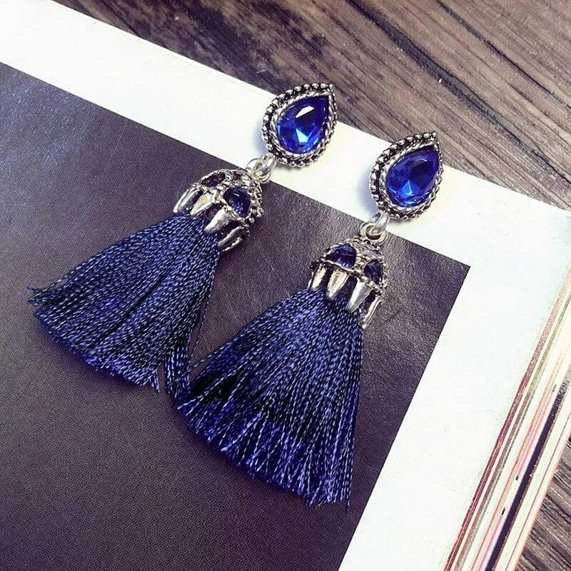 Fashion Boho Femmes Bronze Vert Cercles Dangle oreille Crochet Boucles D/'oreilles Bijoux