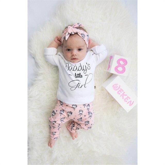 e4c87ce7c35a 3Pcs Infant Clothing Newborn Baby Girls Clothes Sets Long Sleeve ...