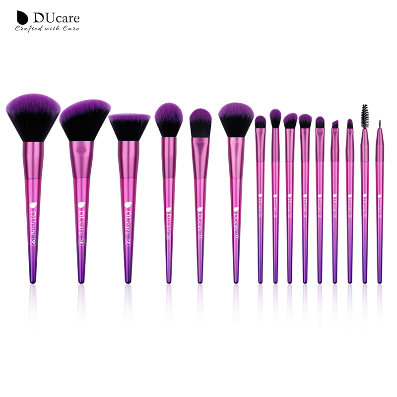 DUcare 15PCS Makeup Brushes Professional Make up Brush Set Foundation Powder Blush Eye Shadow Make Up Brush Tool Kit Maquiagem professional makeup brush kits wood synthetic hair powder foundation makeup eye shadow brush tools 12 pcs set fashion maquiagem