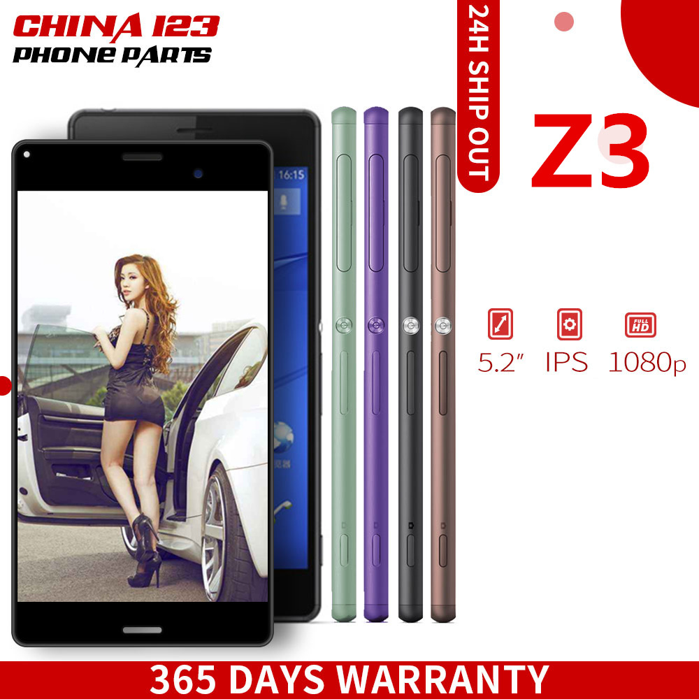 For SONY Xperia Z3 Screen Original 1920x1080 5.2'' LCD for Sony Z3 Display Touch Screen with Frame D6603 D6633 D6653 SOL26 Tools