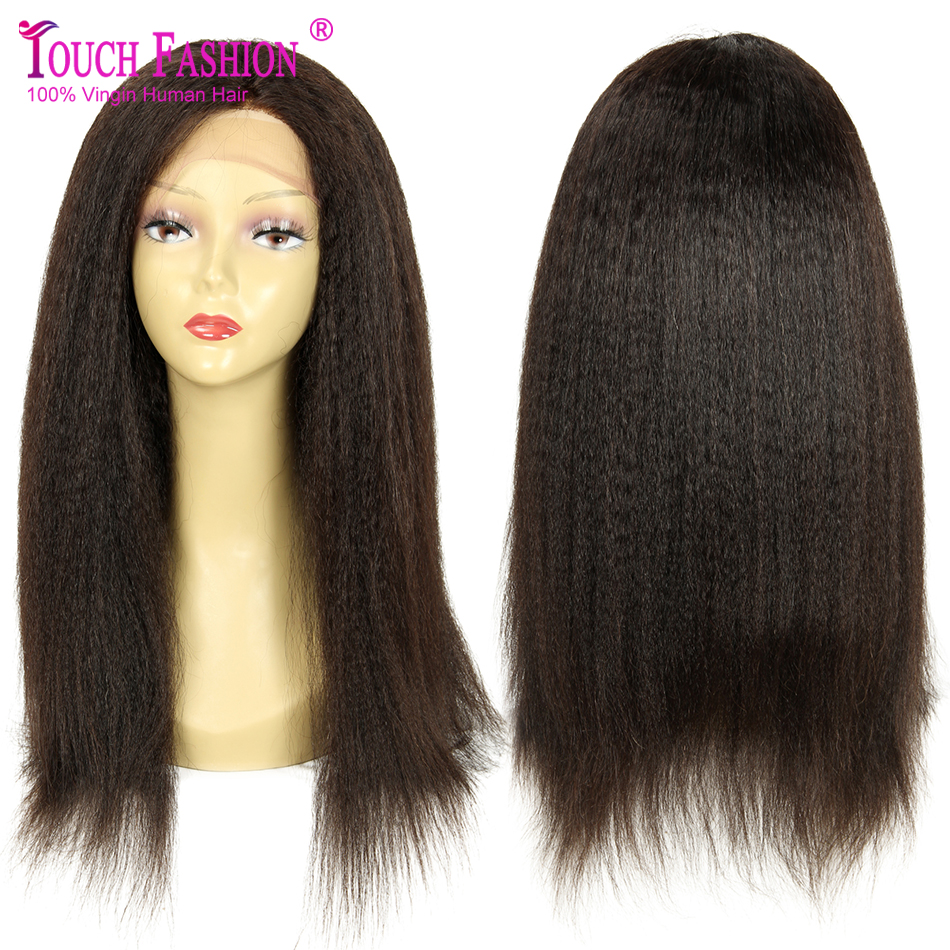 Coarse Italian Yaki Wig Virgin Brazilian Kinky Straight