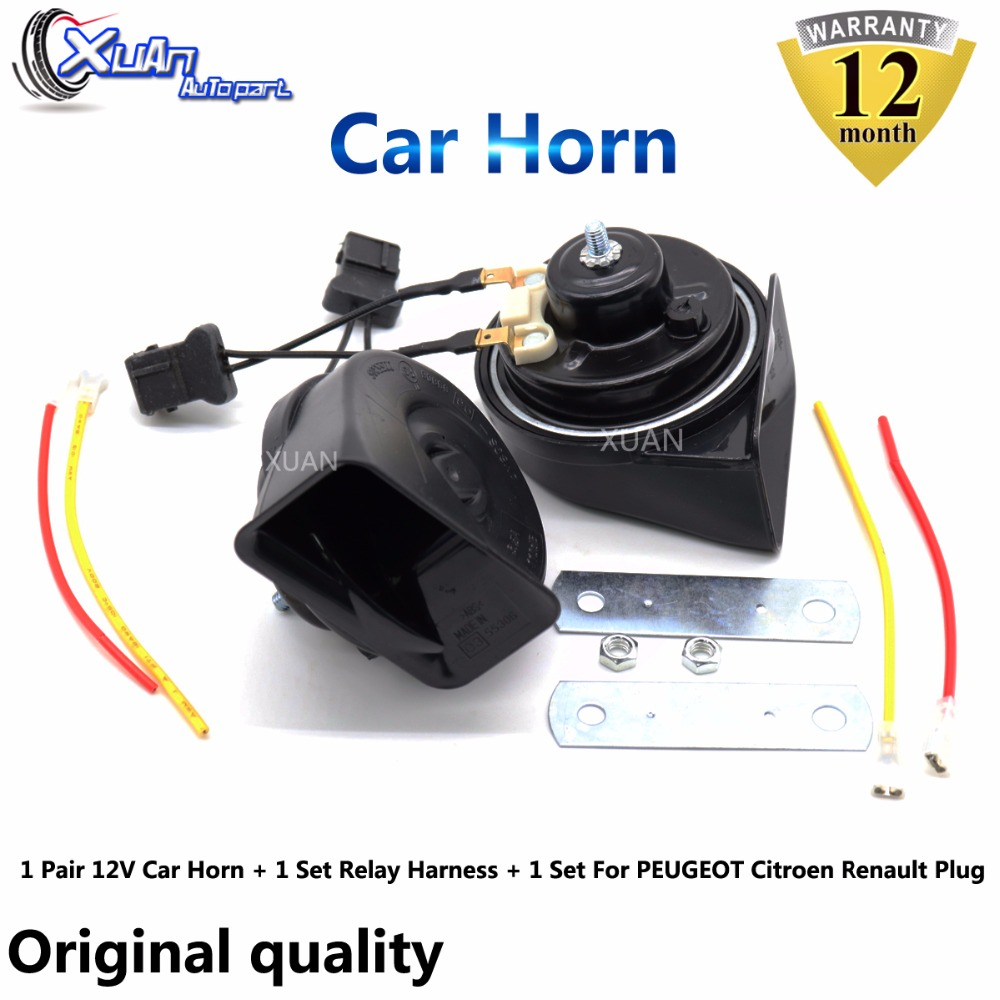 12V UNIVERSAL FIT CAR HORN REPLACEMENT HIGH TONE  Smart ROADSTER CONVERTIBLE