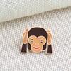 Emoji  Monkey Brooch Pins 3