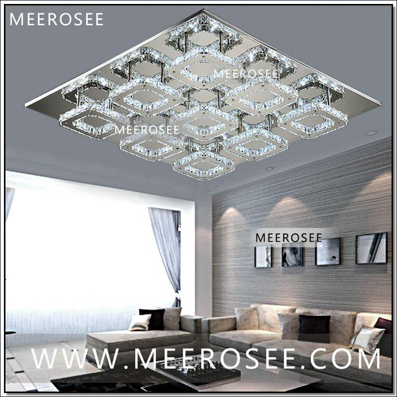 Square LED Crystal Light Ceiling Lighting Fixture Surface Mounted Crystal LED Lamp for Hallway Aisle Corridor Fast Shipping