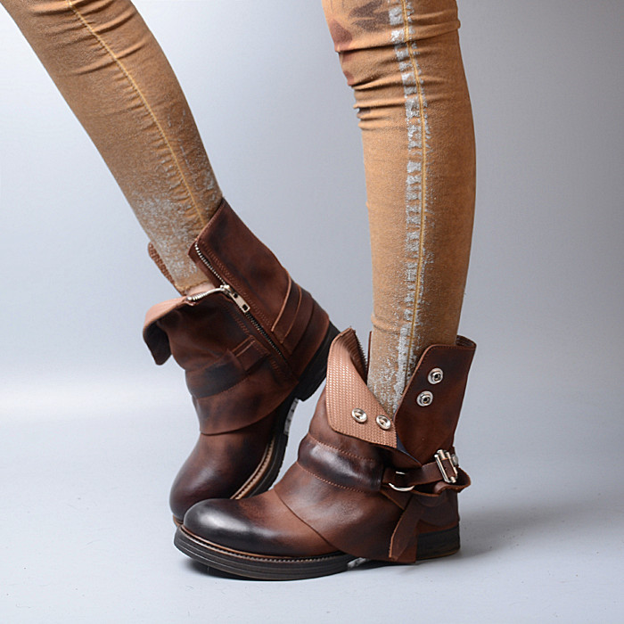 Online Get Cheap Women Brown Combat Boots -Aliexpress.com ...