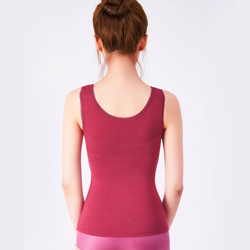 61bf32c8bcbc3 Slim Up Lift Shaper Plus Size Bra Cami Tank Top Women Body Shaper Removable  Shaper Underwear Slimming Vest Corset Shapewear 3008-in Tops from Underwear  ...