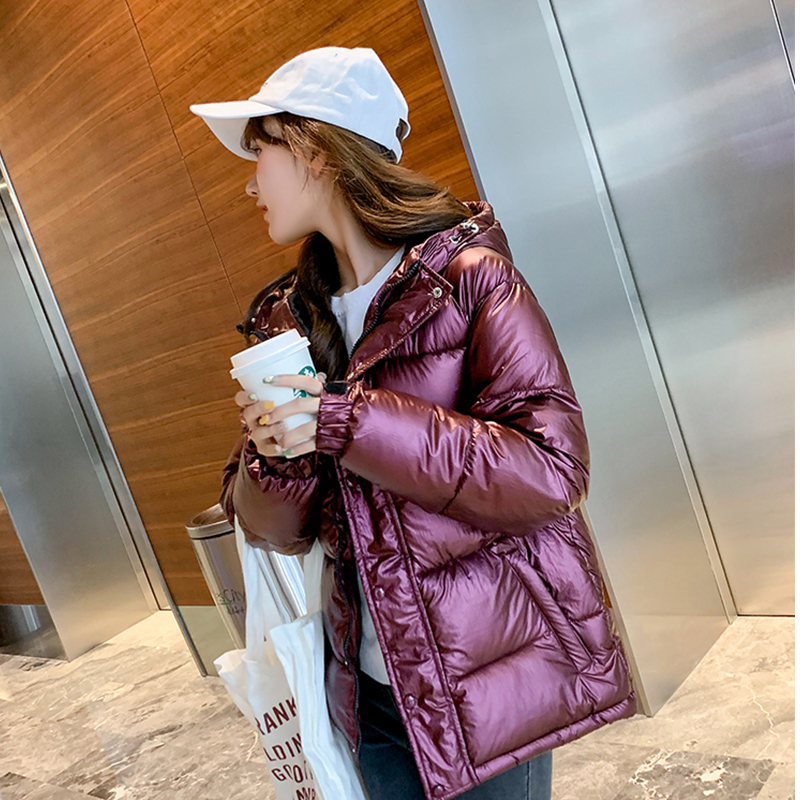FMFSSOM Autumn Winter Solid Women Parkas Overcoat Padded Warm Hooded Cotton Singled Breasted Long Sleeve Female Coat(China)