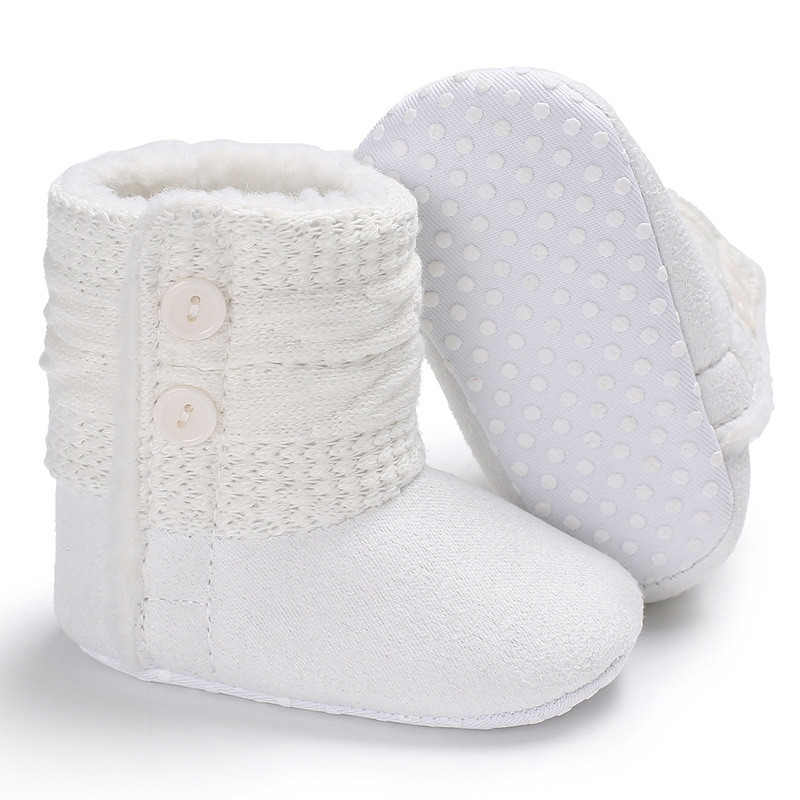 b4539eab106b Newborn Infant Winter Warm Baby Snow Boots New Baby Boy Girl Soft ...