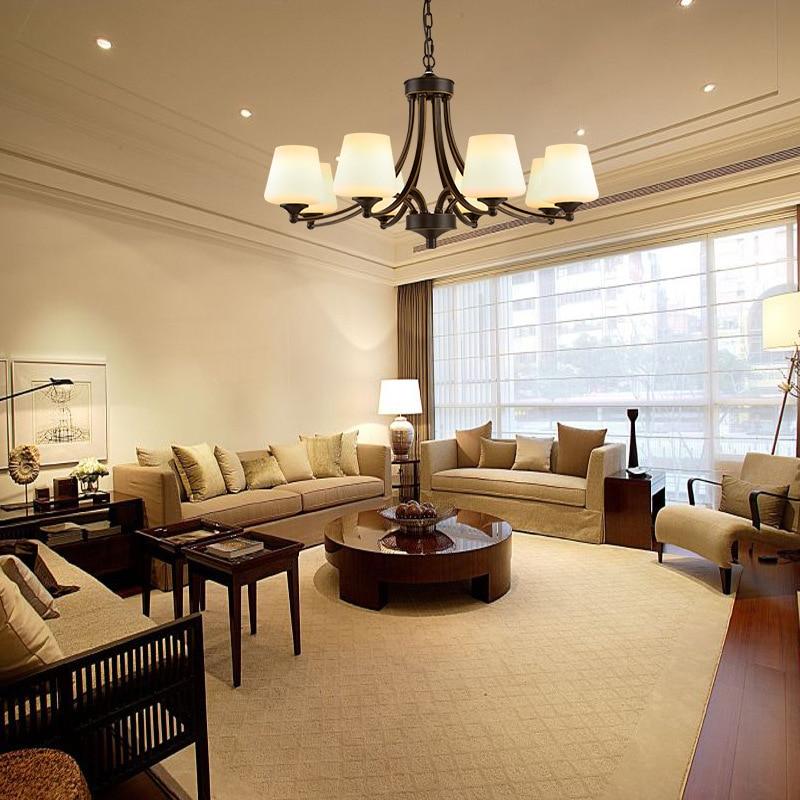 ФОТО American rustic chandelier iron simple living room bedroom lamp restaurant hotel lights retro lights