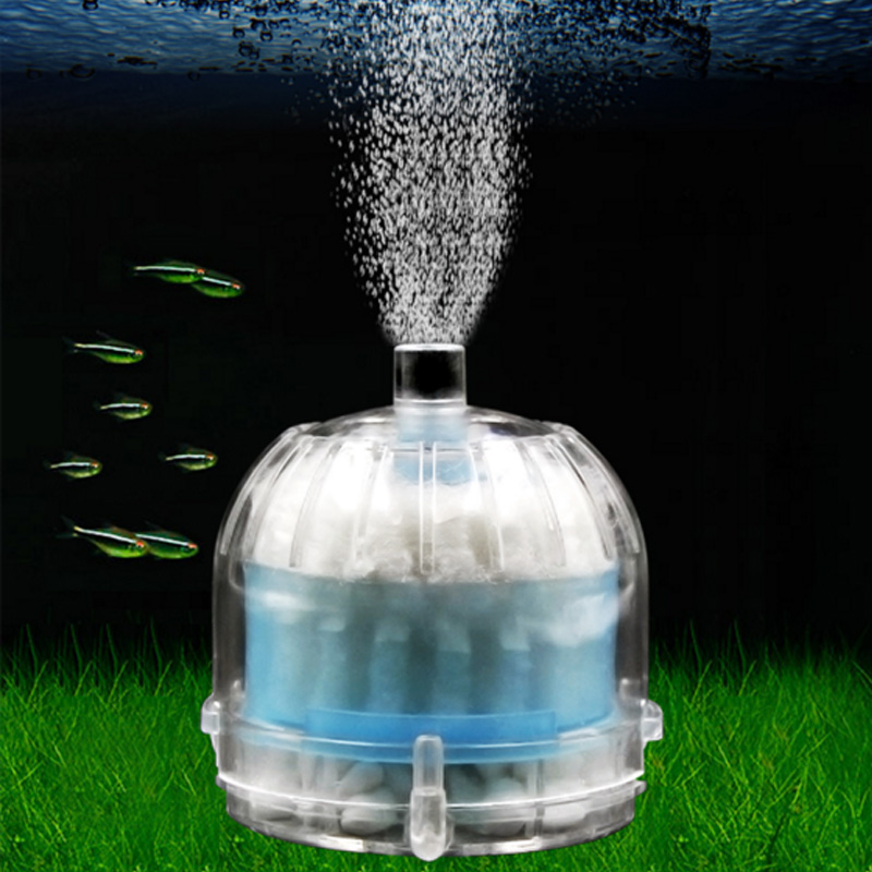 Mini aquarium fish tank pond internal air driven filter for Pond filter sponges