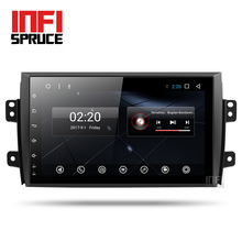 Android 7.1 car dvd for Suzuki SX4 2007-2013 with 2GB RAM gps 3G-4G wifi gps navigation radio video audio player car stereo