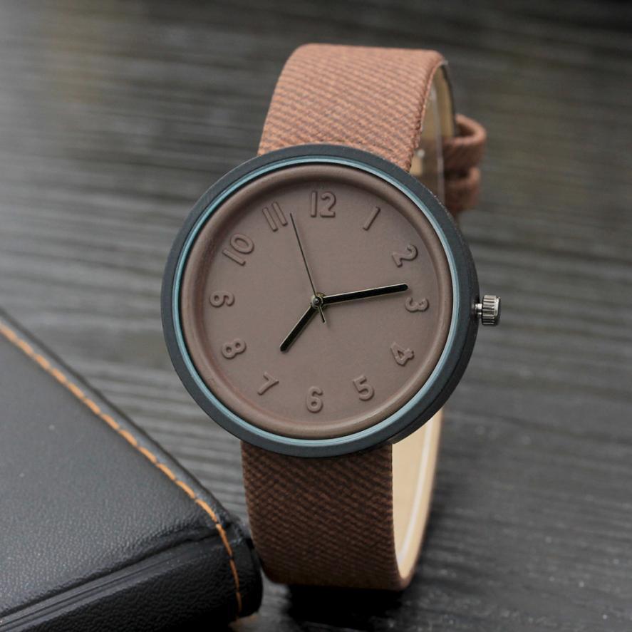 2018 Women Watches Simple Fashion Quartz Canvas Analog Wrist Watch Ladies Bracelet Watch Hot Sale relogio feminino #D