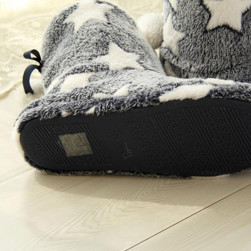 Suave Interior Zapatos La Pie Lana De pink Invierno Caliente Coral Mujeres Blue Zapatillas Las Casa 2017 Fondo Zapatilla Nuevas Calcetín qSYTTv